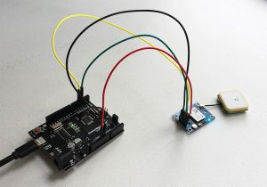 GPS Module connected to Arduino Uno