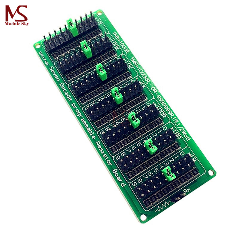 1R - 9999999R Seven Decade Programmable Resistor Board Step 1R 1% 0.5 Watt