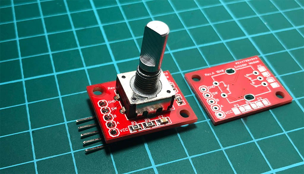 Rotary encoder module assembled