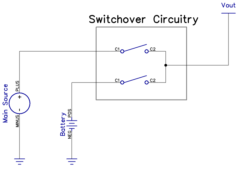Automatic Battery Backup Switchover circuit
